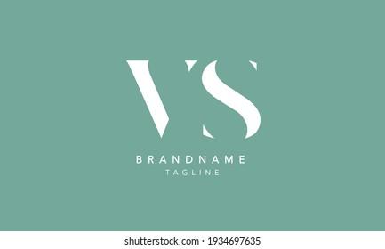 VS Alphabet initial Letter Monogram Icon Logo vector illustration