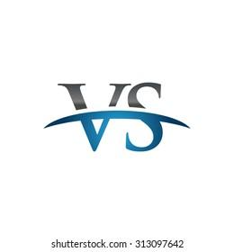 VS initial company blue swoosh logo