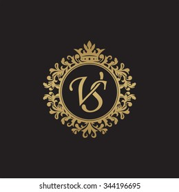 VS initial luxury ornament monogram logo
