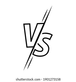 Vs letters with line icon on white background. Versus logo, symbol and background. Vs sign for game, battle and sport. Vector illustration.