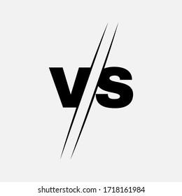 VS letters for sport, game, fight, battle, match. Versus logo. Stock - Vector illustration