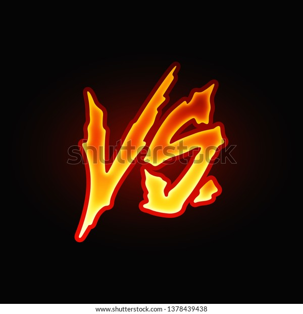 Vs Letters Versus Sign Fight Competition Stock Vector Royalty