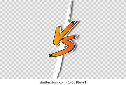 VS letters. Versus Vector Illustration