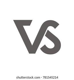 VS logo initial letter design template illustration