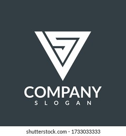 VS Logo, Letter Design Vector,Versus Or VS and SV Letters Logo Design Inspiration,Abstract Initial letter vs/sv company logo design template,versus logo vs letters for sports and fight competition.