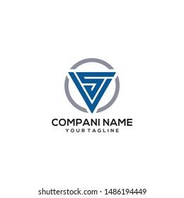 VS logo / sv logo triangle