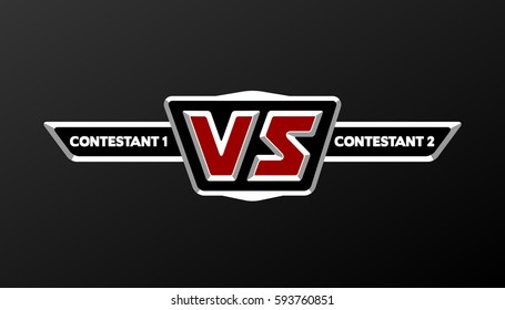 VS Logo. Versus Board of rivals, with space for text.