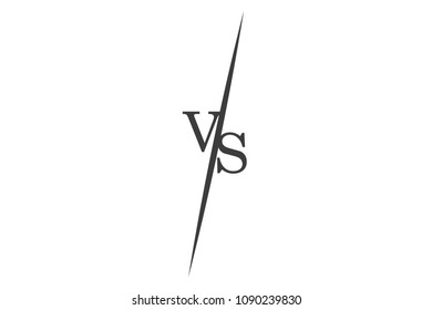 VS. One against another. versus.