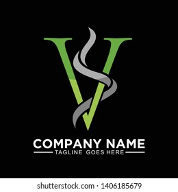 VS or SV initial logo, clean and modern for  business company logo design