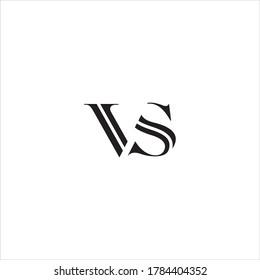 VS or SV letter logo design vector.
