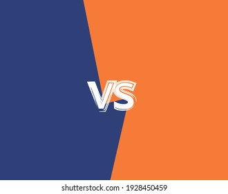 Vs template. Versus comparison blank. Decorative battle cover with lettering. Vector color illustration with divider and copy space for contestantes.