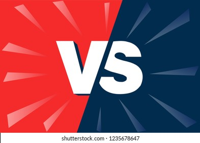 VS Versus Blue and red comic design. Vector illustration