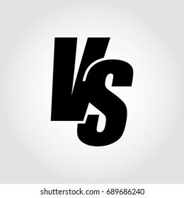 VS. Versus letter logo