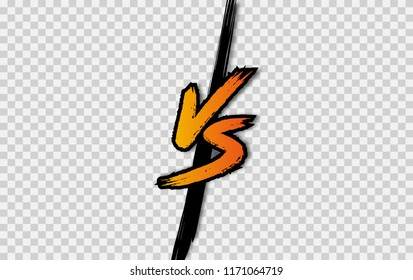 VS. Versus letter logo. Battle vs match, game