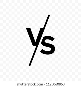 VS versus letters vector logo isolated on white background. VS versus symbol for confrontation or opposition design concept