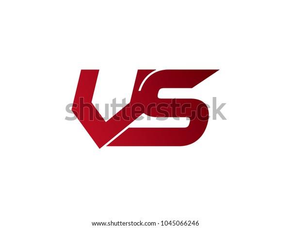 Vs Versus Sign Stock Vector Royalty Free 1045066246
