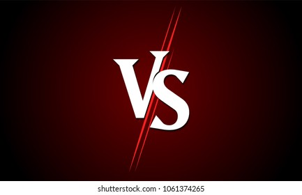 VS versus vector icon for sport match competition or challenge battle background template