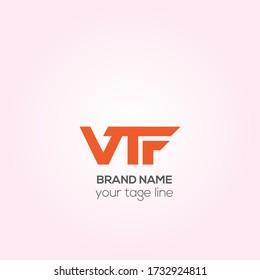 VTF vector logo design, VTR Creative logo design