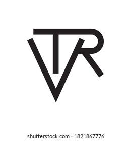 VTR letter logo design vector