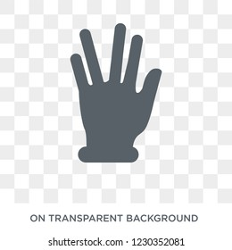 Vulcan salute icon. Trendy flat vector Vulcan salute icon on transparent background from Hands and guestures collection.