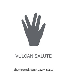 Vulcan salute icon. Trendy Vulcan salute logo concept on white background from Hands collection. Suitable for use on web apps, mobile apps and print media.