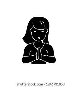 Vulnerability black icon, vector sign on isolated background. Vulnerability concept symbol, illustration