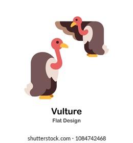 Vulture flat illustration