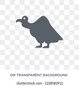 Vulture icon. Trendy flat vector Vulture icon on transparent background from animals  collection. High quality filled Vulture symbol use for web and mobile
