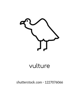 Vulture icon. Trendy modern flat linear vector Vulture icon on white background from thin line animals collection, editable outline stroke vector illustration