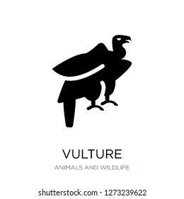 vulture icon vector on white background, vulture trendy filled icons from Animals and wildlife collection, vulture simple element illustration