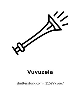 Vuvuzela icon vector isolated on white background, Vuvuzela transparent sign , line or linear sign, element design in outline style