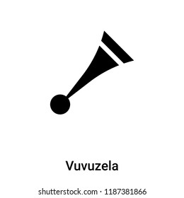 Vuvuzela icon vector isolated on white background, logo concept of Vuvuzela sign on transparent background, filled black symbol