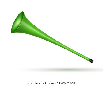 Vuvuzela trumpet football fan. Soccer vector sport play fan symbol with vuvuzela or trumpet design.