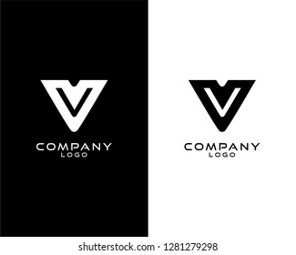 vv Initial abstract company Logo Template Vector