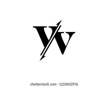 VV initials logo sliced