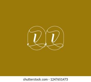 VV Letter Linked Minimalist Prestige Line Emblem Badge Monogram Logotype