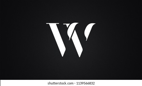 VV Letter Logo Design Template Vector