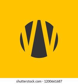 VV letter logo . V logo .