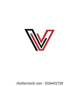 vv letter vector logo