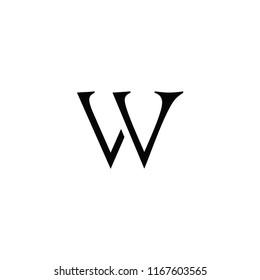 vv letter vector logo. w letter vector logo