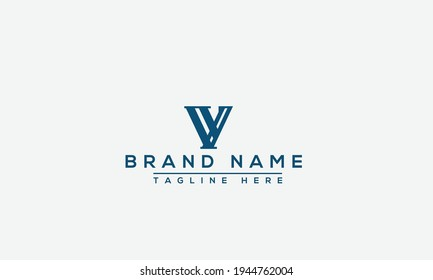 VV Logo Design Template Vector Graphic Branding Element.