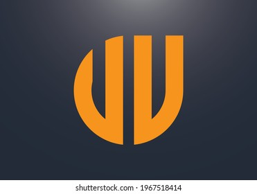 VV water shape logo. VV Initial letters  water shape monogram logo. VV logo monogram designs template. It will be suitable for which company or brand name start those initial.