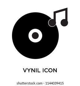 Vynil icon vector isolated on white background for your web and mobile app design, Vynil logo concept
