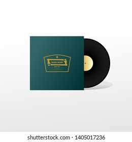 Vynil Music album cover mock up, template, for band or new release