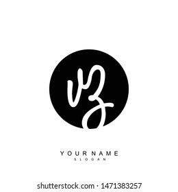 VZ Initial beauty floral logo template
