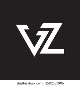 VZ initial letter logo template vector icon design