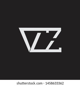 VZ initial logo Capital Letters black background