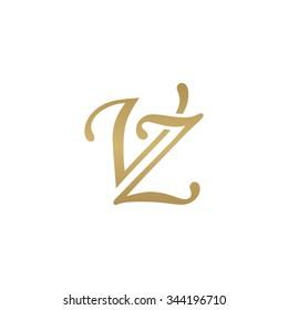 VZ initial monogram logo