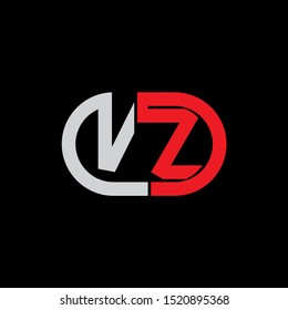 VZ Letter monogram with abstrac concept style design