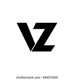 vz letter vector logo